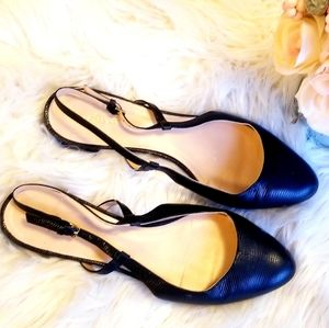 Cole Haan slingback black leather flats 10.5